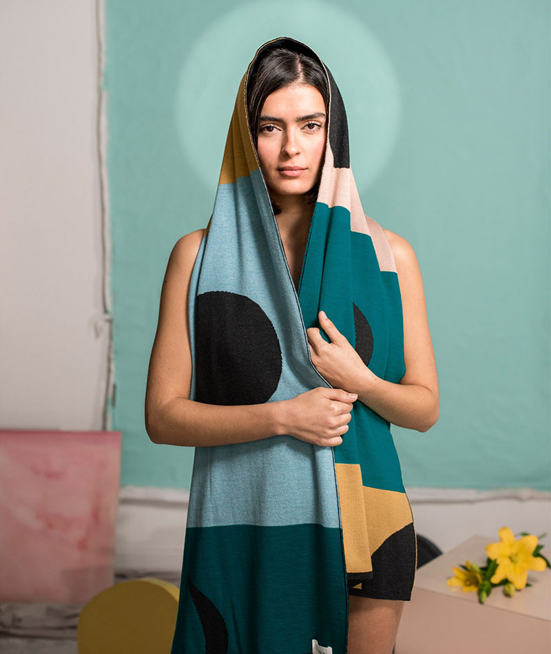 bufanda lana merina hecha en España