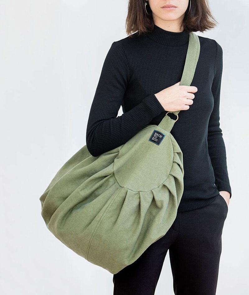 bolsa deporte reciclada verde