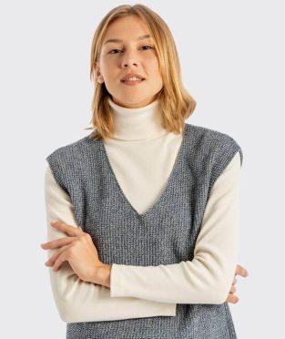 chaleco tricot reciclado infinit denim