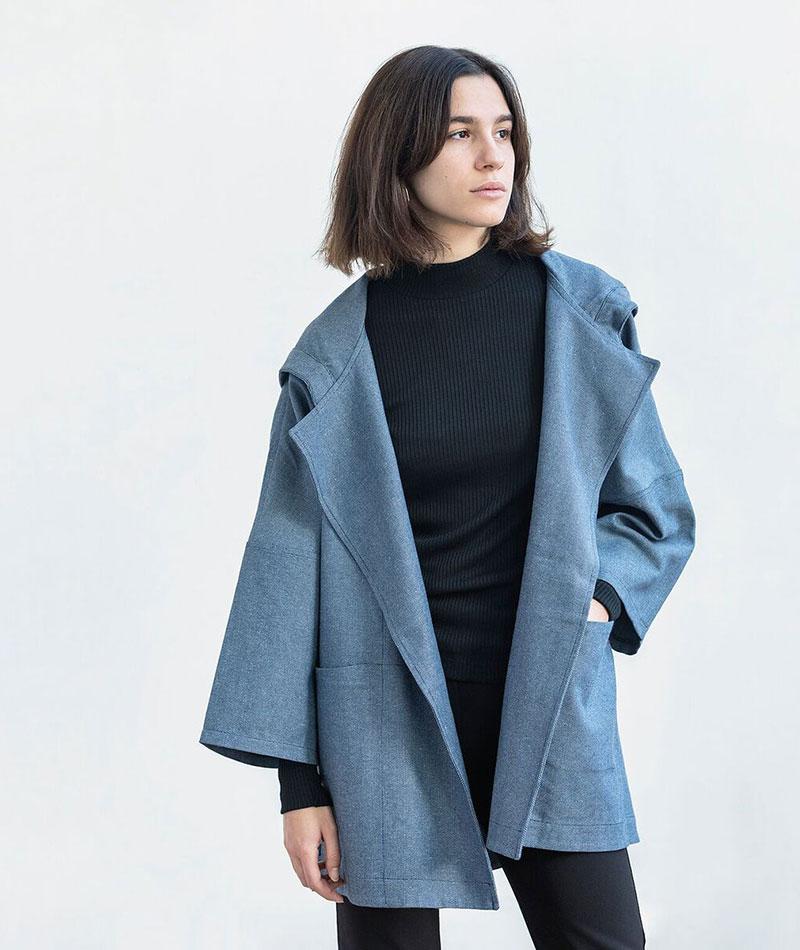 chaqueta oversize back to eco