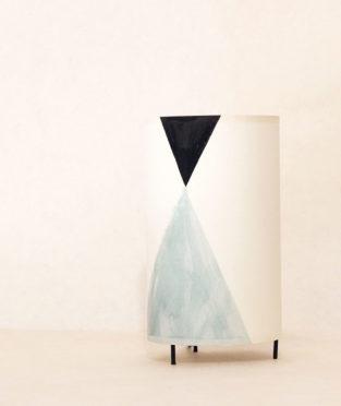 lámpara mesa maud pintada a mano