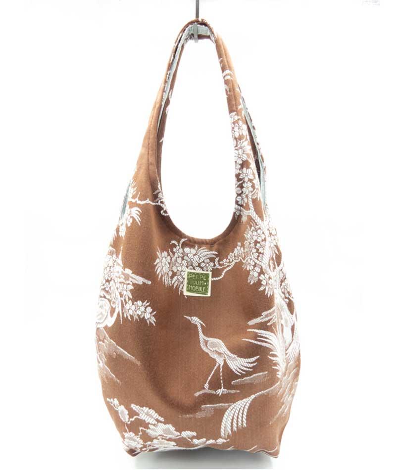 bolso de tela vintage reciclada