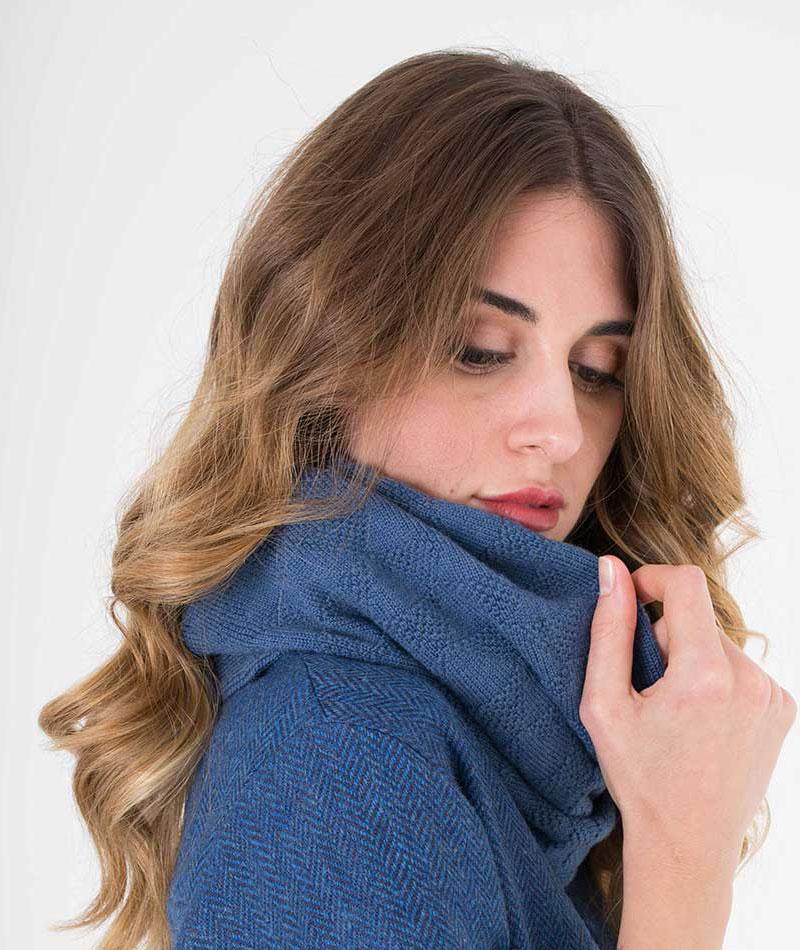 cuello 100% lana