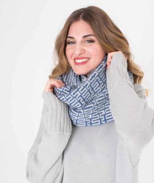 cuello 1005 lana estampado jaquard