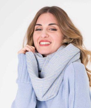 cuello 100% lana jaquard