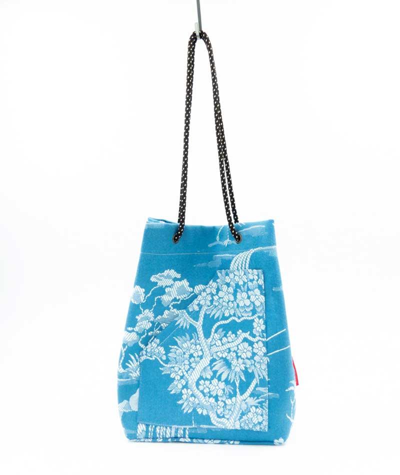 bolso reciclado tela vintage colchonera