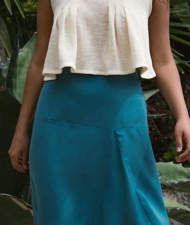 falda de tencel fabricada en barcelona