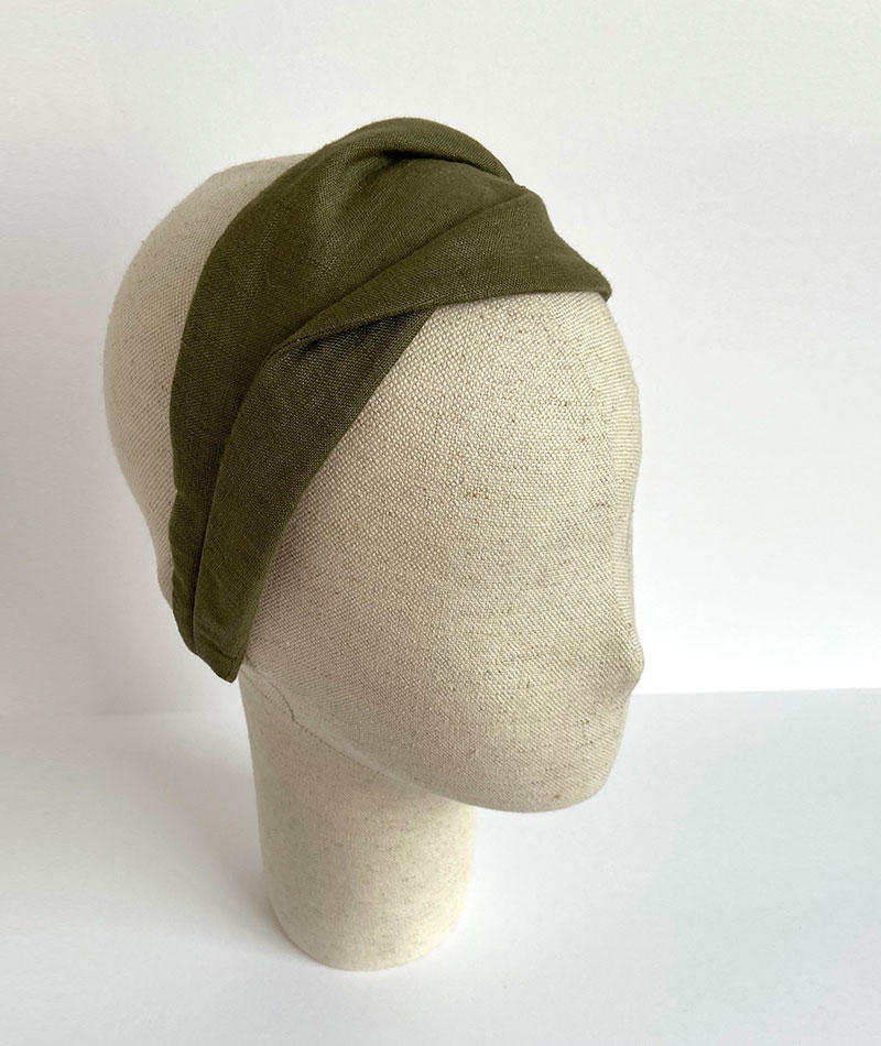turbante de lino hecho artesanalmente