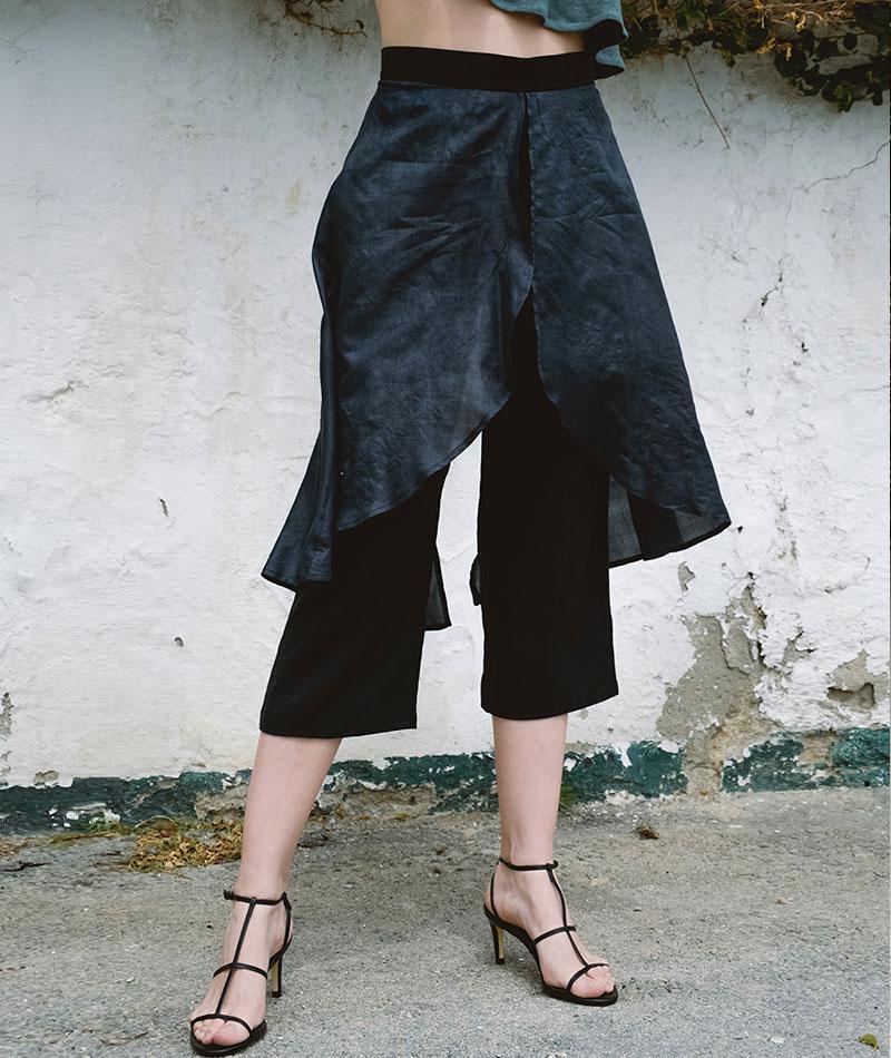 pantalón de tencel y seda