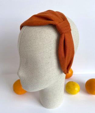 turbante de lino hecho a mano