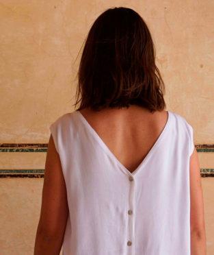 blusa blanca de tencel