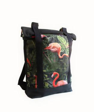 Convertible Flamingo Tote Backpack 2x1