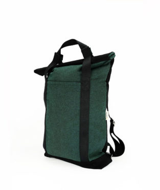 Convertible Green Tote Backpack 2x1
