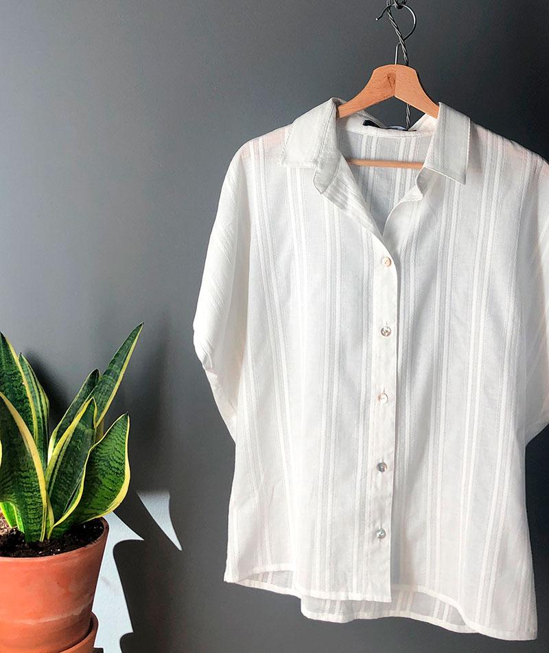 camisa blanca 100% algodón