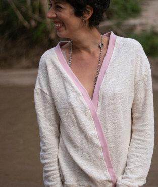 chaqueta de punto de algodón orgánico