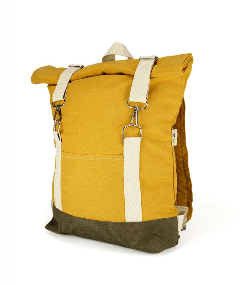 mochila vegana de tela hecha en españa