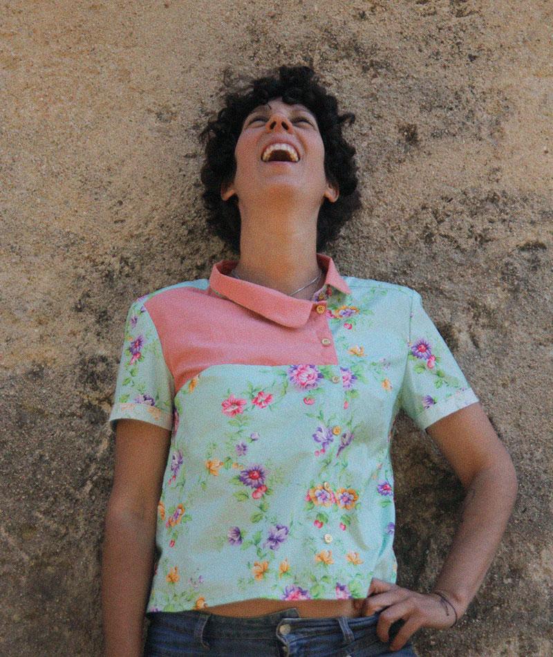 camisa asimétrica 100% algodón orgánico