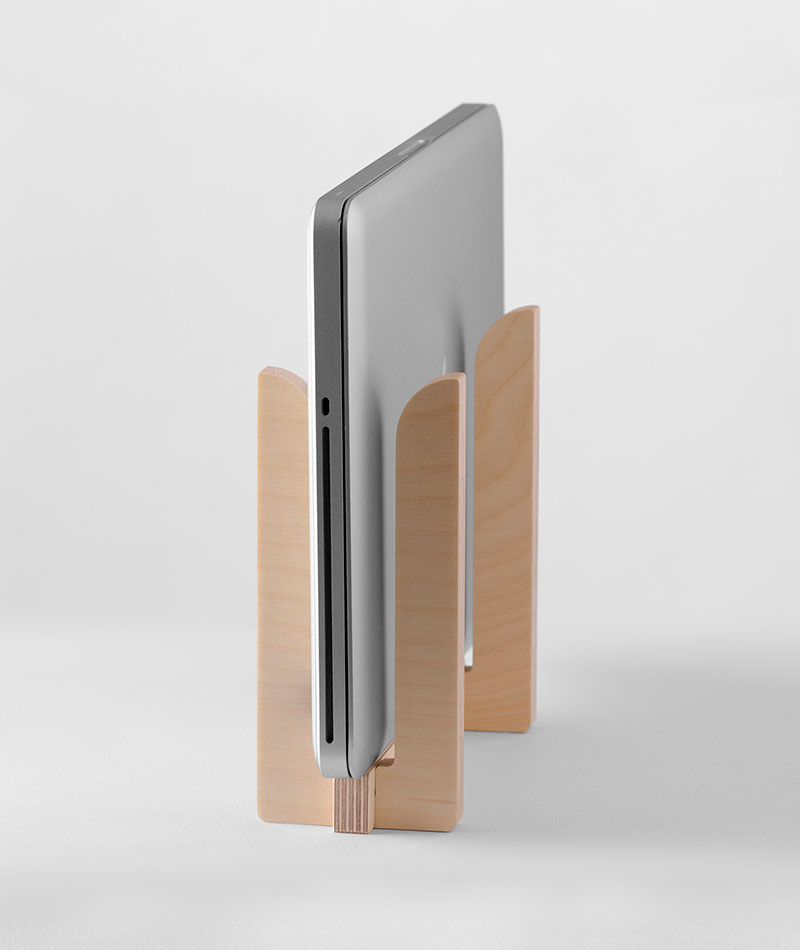 accesorio guarda portátil de madera