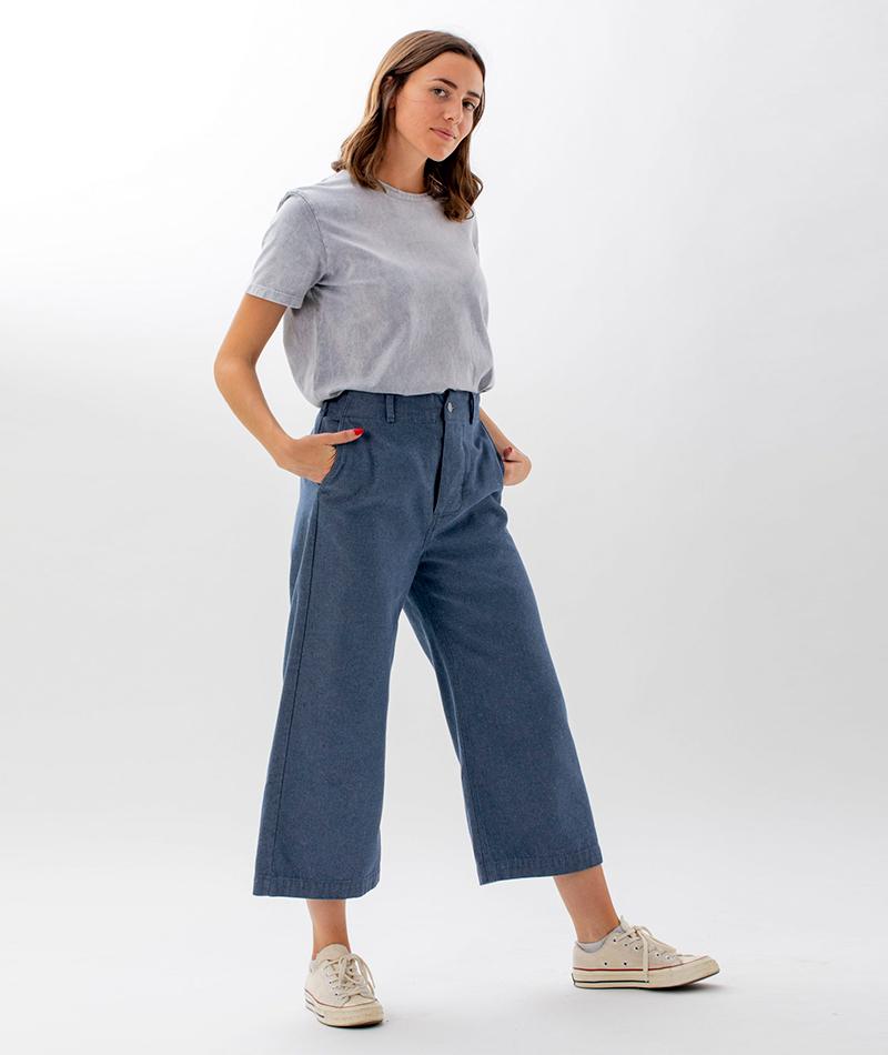 camiseta algodón orgánico gris