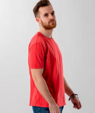 camiseta básica algodón orgánico color coral