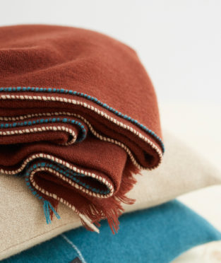 Teixidors 100% cashmere throw Jazz copper