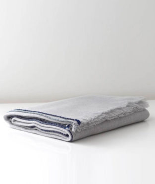 Teixidors 100% cashmere throw Jazz light grey