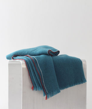 Teixidors 100% cashmere throw Jazz turquoise