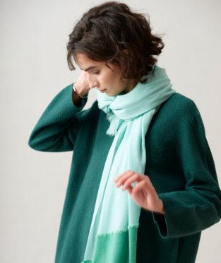 Teixidors Pluyia cachemir Shawl turquoise green