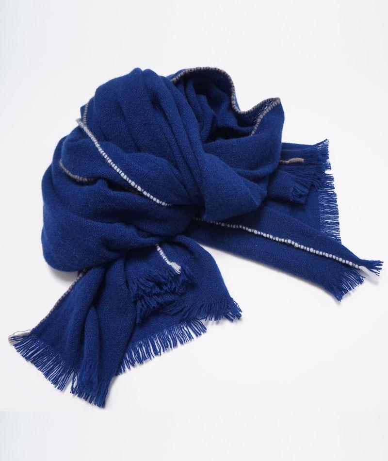 teixidors chal cachemir azul oscuro