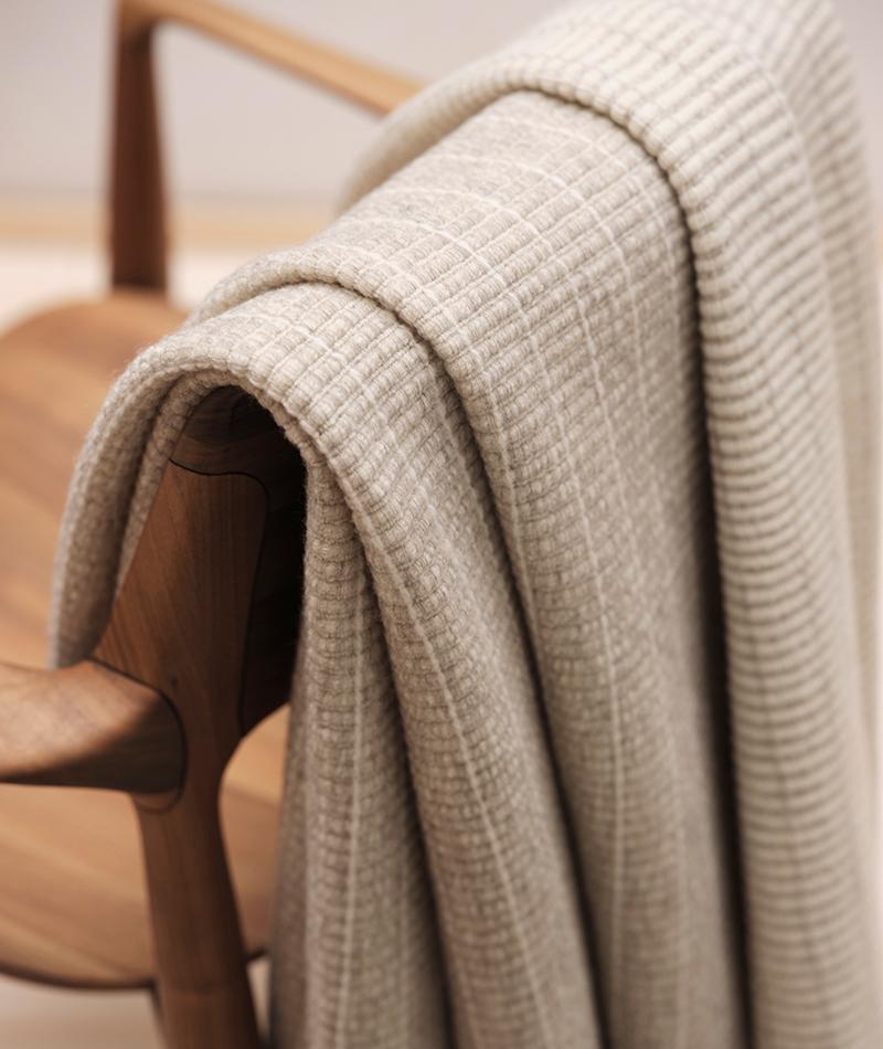 teixidors manta lana ecologica colección John Pawson