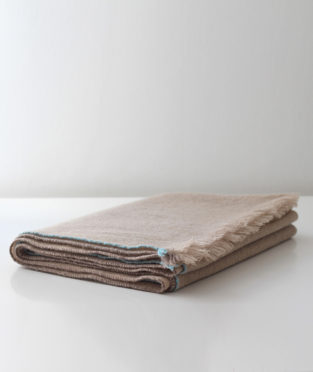 Teixidors 100% cashmere throw Jazz beige