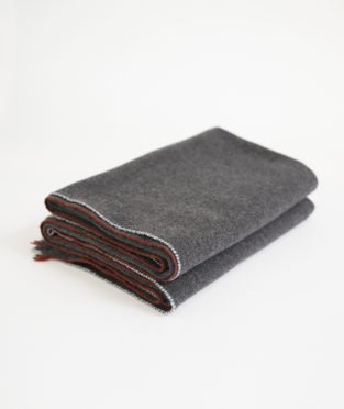 Teixidors 100% cashmere throw Jazz dark grey
