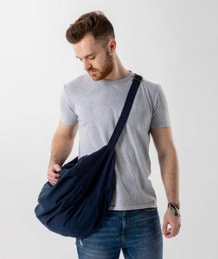bolsa deporte reciclada azul