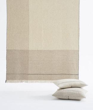 Teixidors ecological merino wool throw Temps