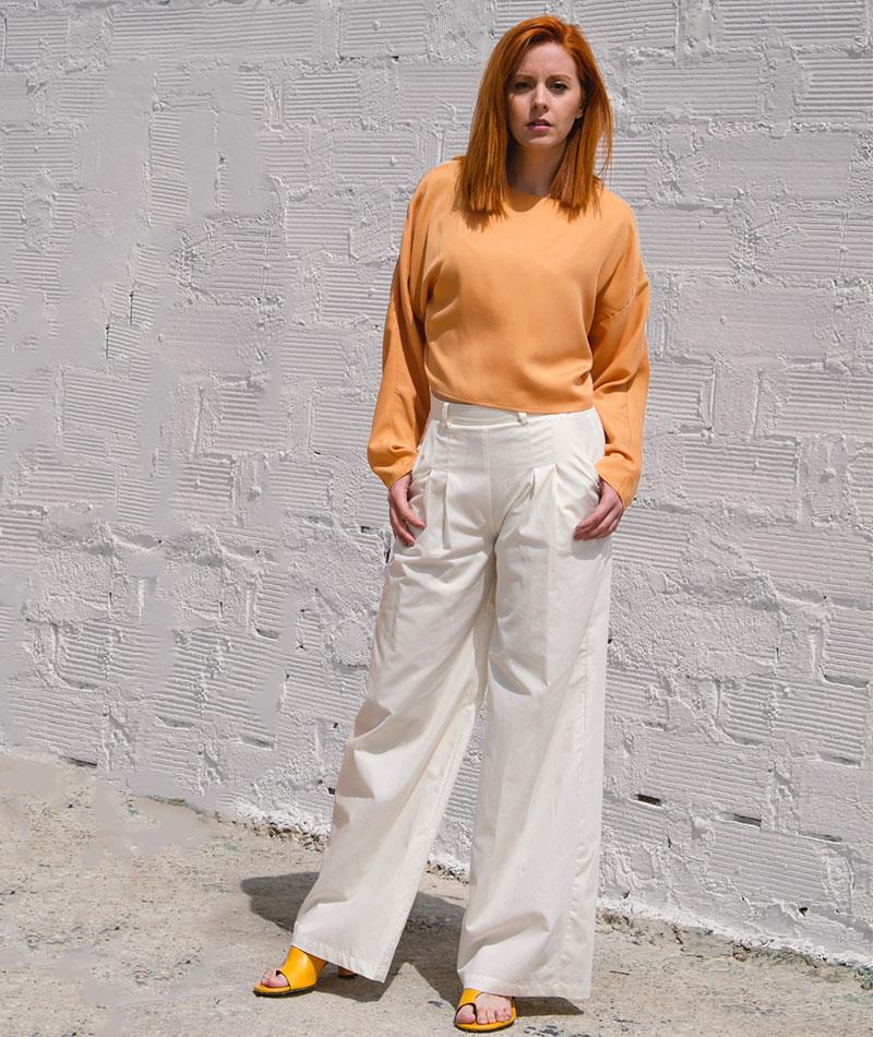pantalón de algodón orgánico mujer