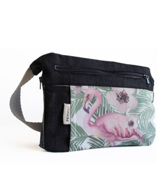Flamingo bum bag with water bottle holder