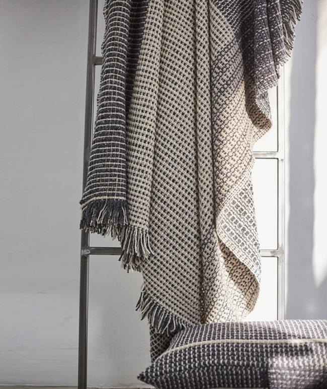 Teixidors manta de lana merina ecológica procedente de Francia