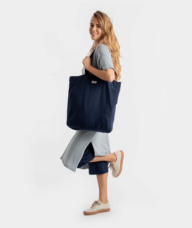 tote bag reciclada infinit denim