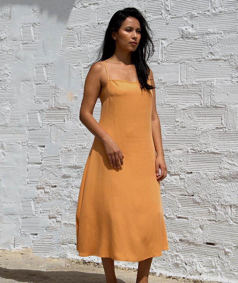 vestido de tencel fabricado en España