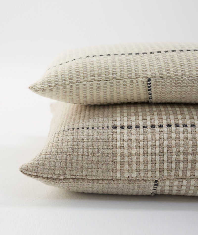 teixidors cojines de lana merina ecológica temps