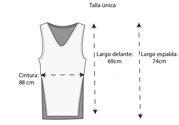 guía de tallas chaleco de cáñamo