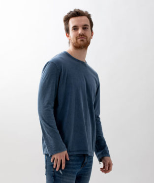 camiseta básica de algodón orgánico manga larga