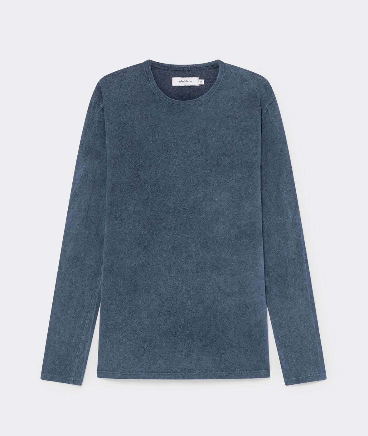 camiseta azul manga larga algodón orgánico