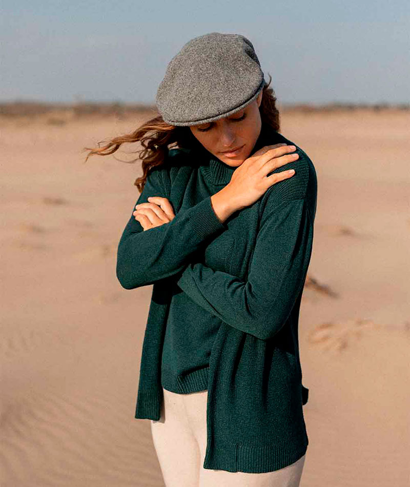 chaqueta de punto verde fabricada en España