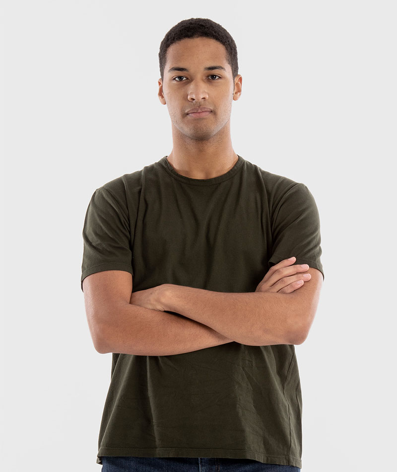 camiseta básica unisex algodón orgánico verde