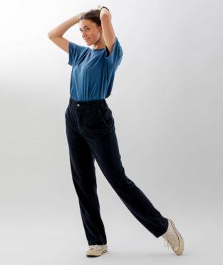 pantalon negro básico reciclado Infinit Denim