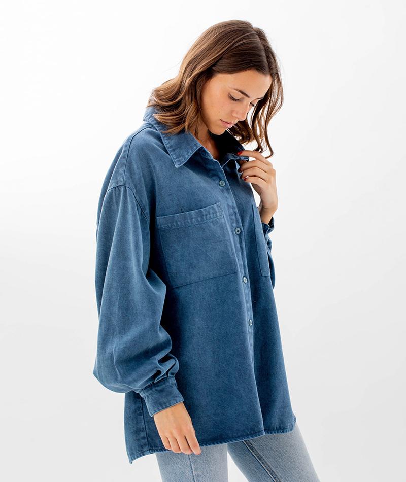 camisa oversize reciclada infinit denim