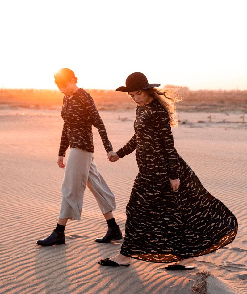 maxi vestido estampado fabricado en España