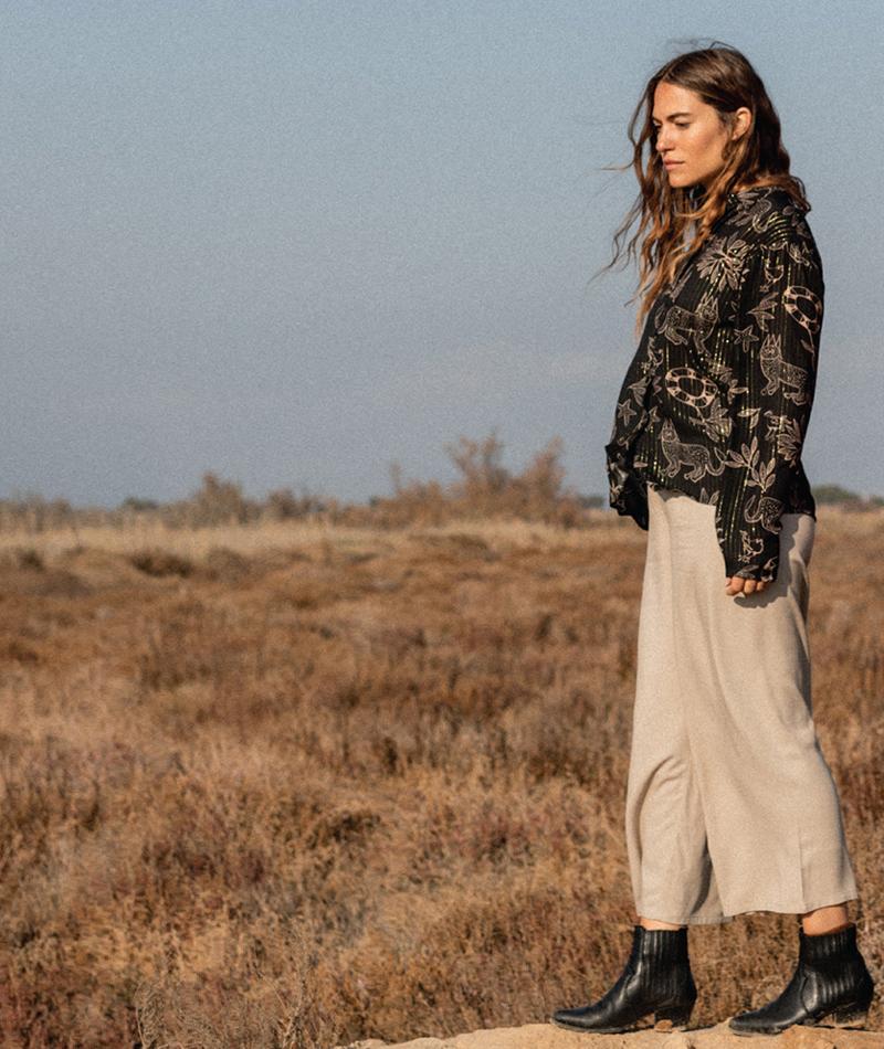 pantalones culotte de viscosa fabricados en España