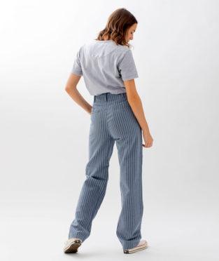 pantalon basico reciclado rayas Infinit Denim